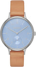 Anita Blue Dial Light Brown Leather