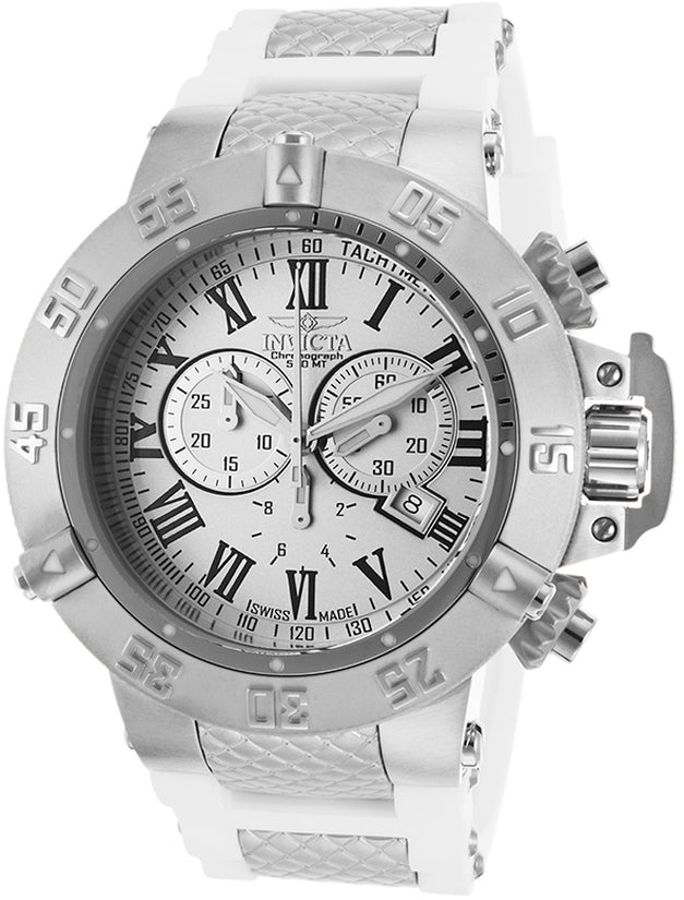 Subaqua Men's Polyurethane/Stainless Steel Silver Dial