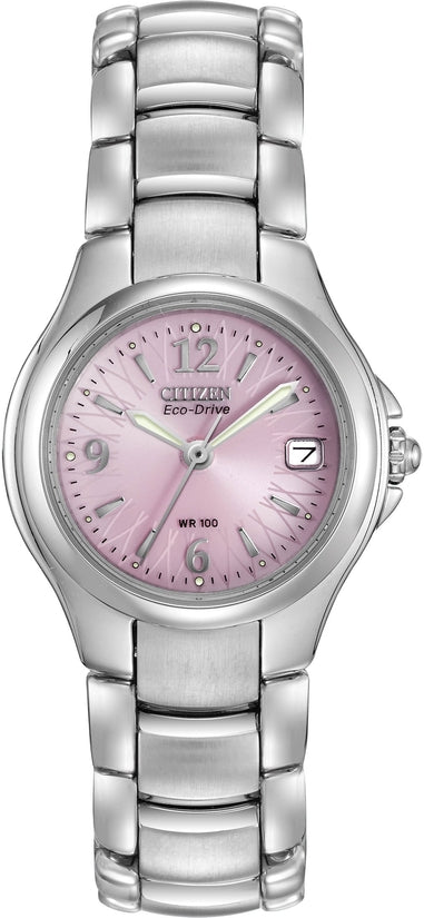 Silhouette Sport Pink Dial Silver Tone