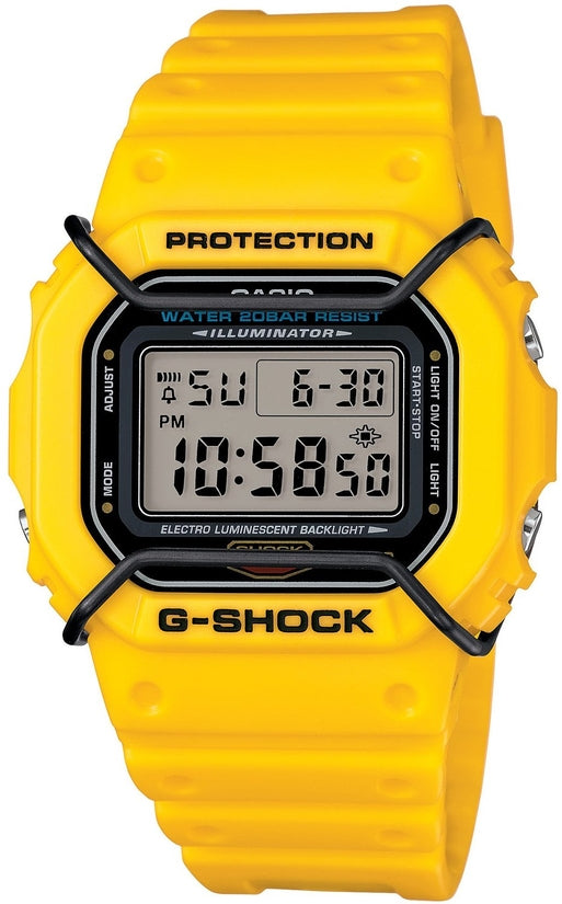 G-Shock DW5600P-9 Classic Series Yellow Resin Strap Mens Watch