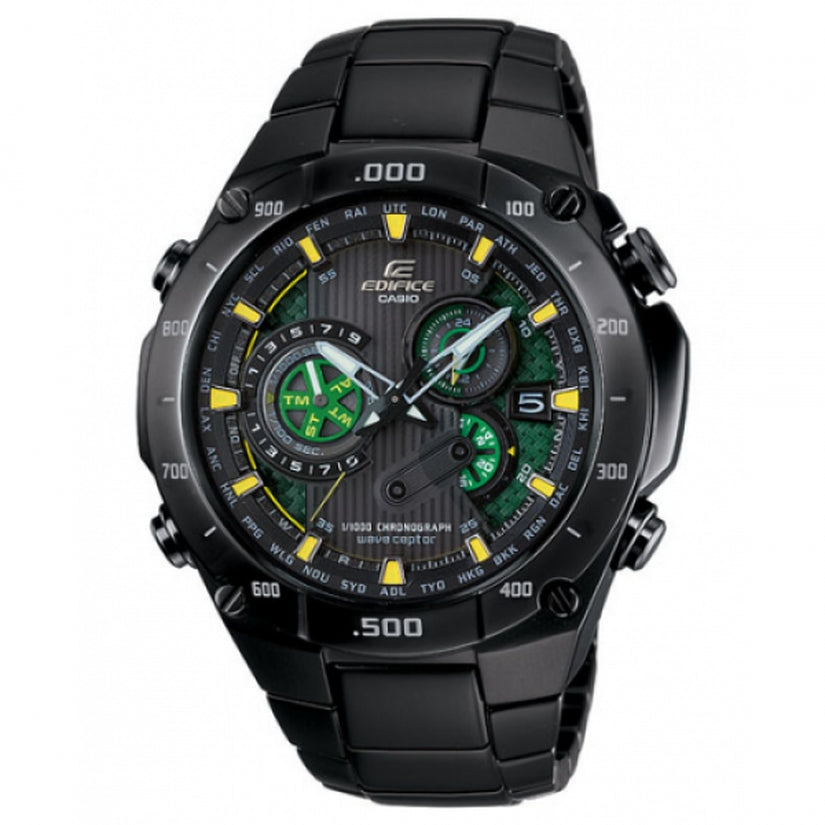 Edifice Black Chronograph All Black IP