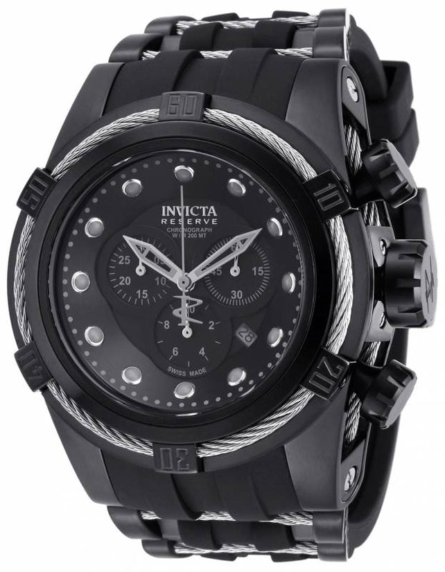 Bolt Men's Stainless Steel Black Dial