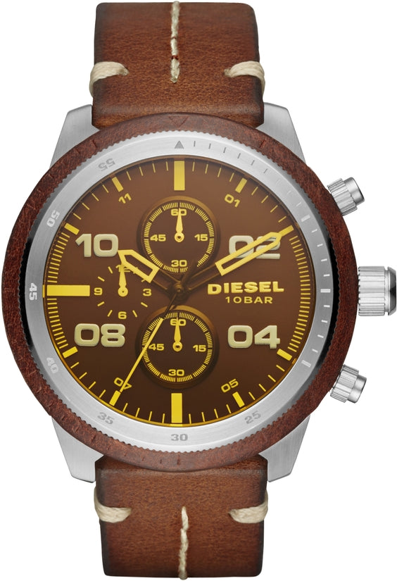 Padlock Chronograph Brown Leather