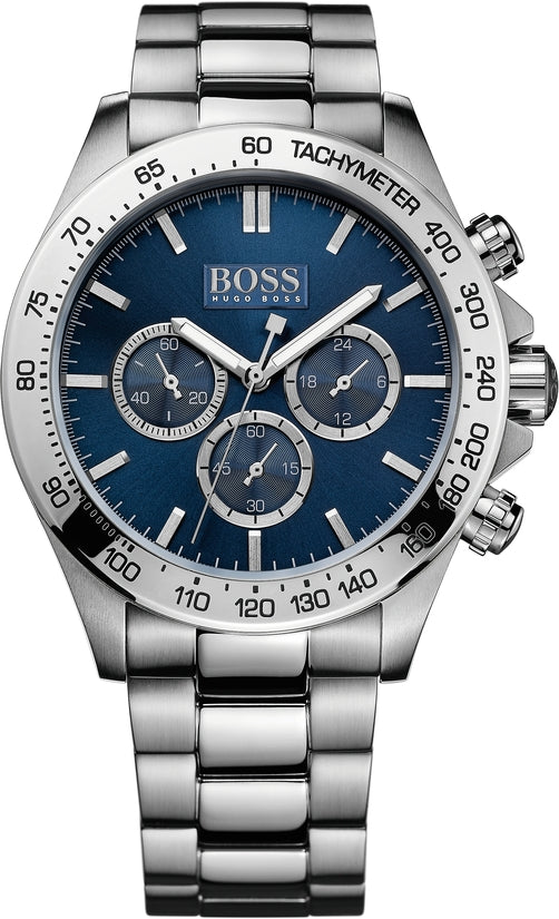 Ikon Men's Stainless Steel Blue Dial