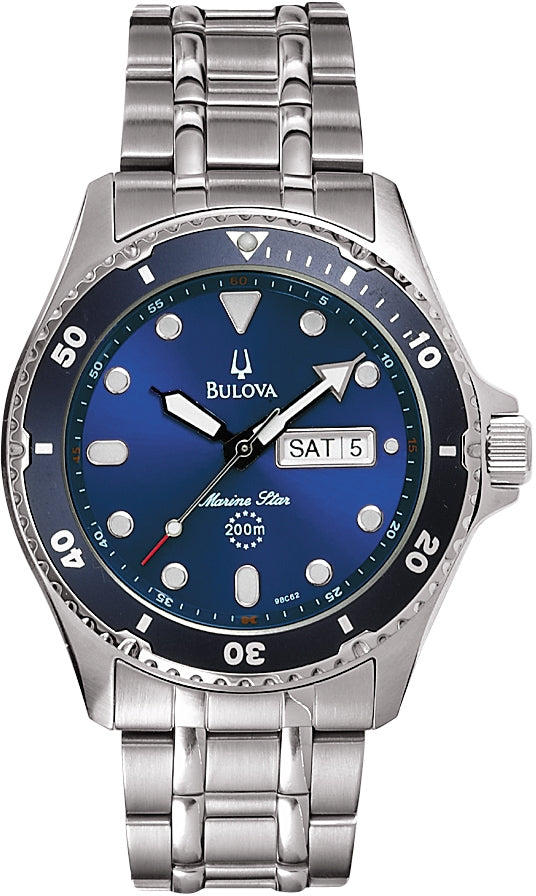 Marine Star Navy Blue Dial Analog Stainless Steel Men's Watch 98C62