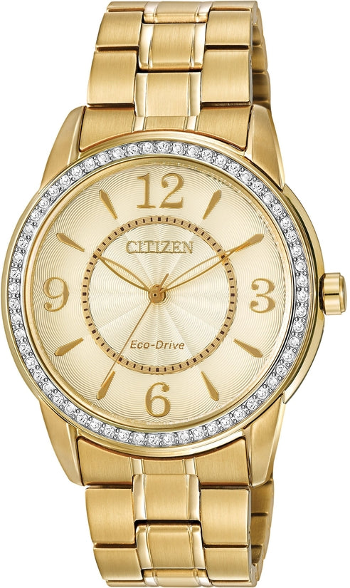 FE7002-52P TTG Champagne Dial Gold Tone Stainless Steel Strap Women's Watch