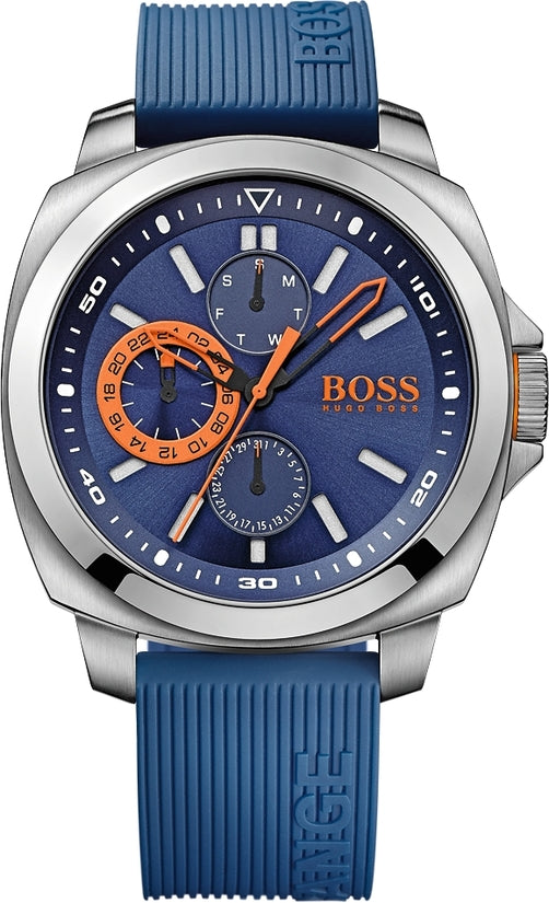 Brisbane Men's Blue Silicone Blue Dial
