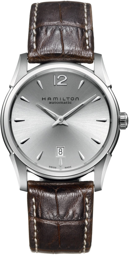 American Classic Men's Brown Leather Strap Silver Dial