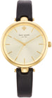 Classic Holland Gold Sunray Dial Black Leather