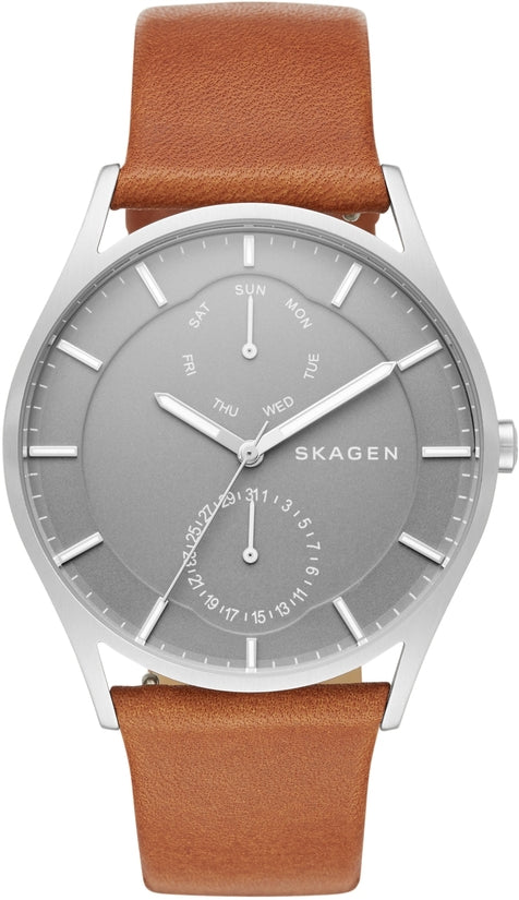 Holst Multifunction Brown Leather Gray Dial
