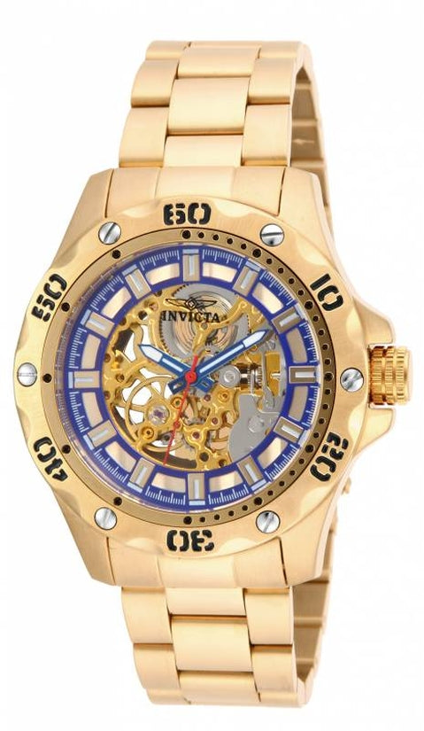 Specialty Men's Stainless Steel Gold Dial