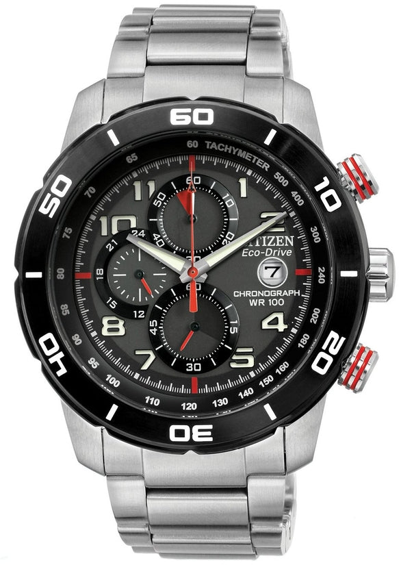 Primo Chronograph Black Dial Stainless Steel Mens Watch CA0468-51E