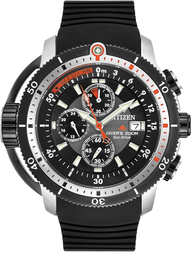 BJ2128-05E Diver Pro-master Black Dial Rubber Strap Men's Watch