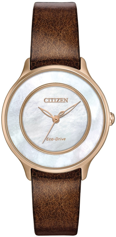 Citizen L Circle Of Time Brown Leather