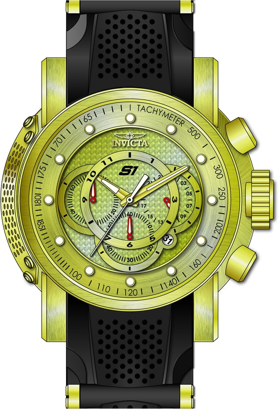 S1 Rally Men's Polyurethane/Stainless Steel Gold Dial