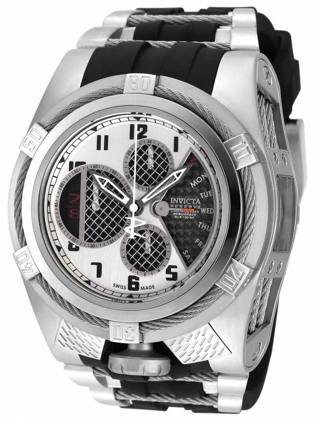 Bolt Men's Polyurethane/Stainless Steel Silver Dial
