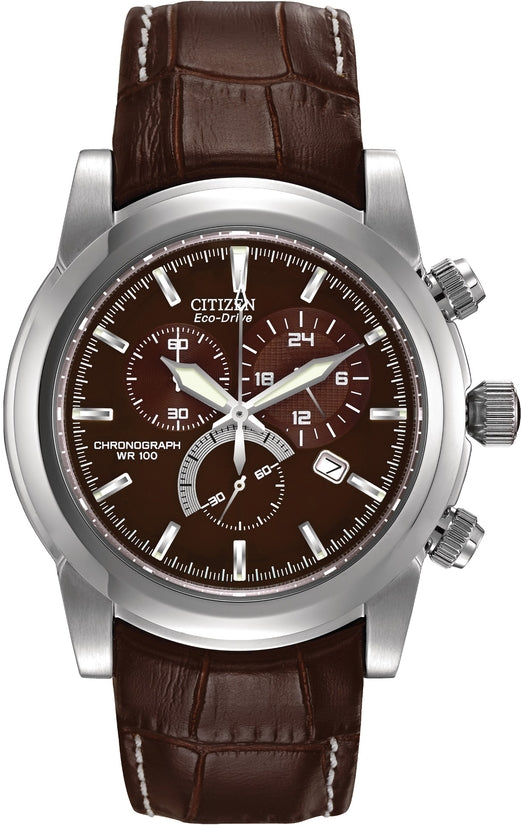 Sport Chronograph Brown Leather