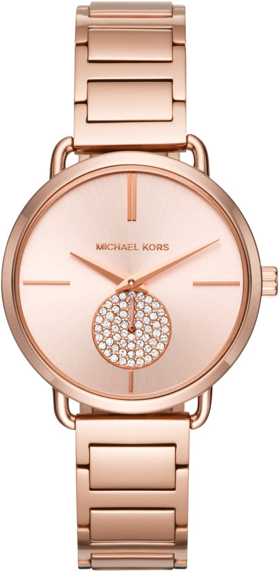 Portia Rose Gold Swarovski Crystal Stainless Steel