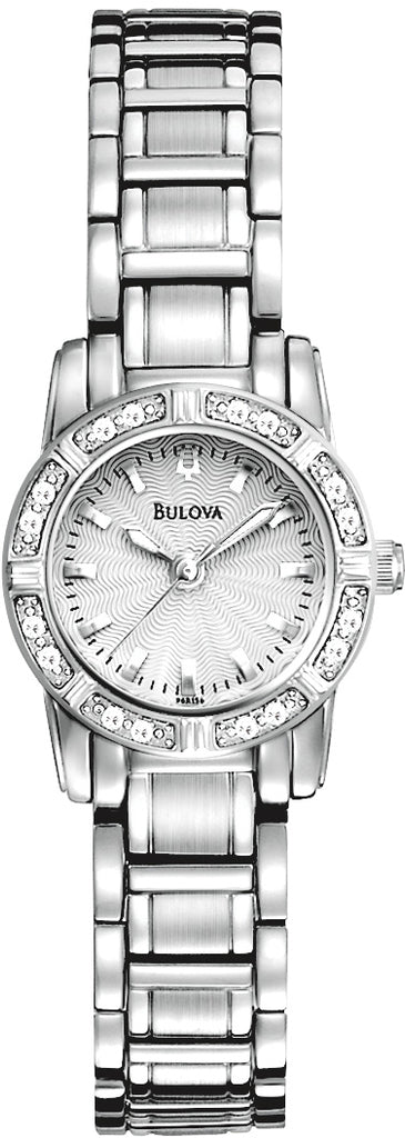 Highbridge Diamond Accented Analog Silver-White Dial Stainless Steel Women's Watch 96R156