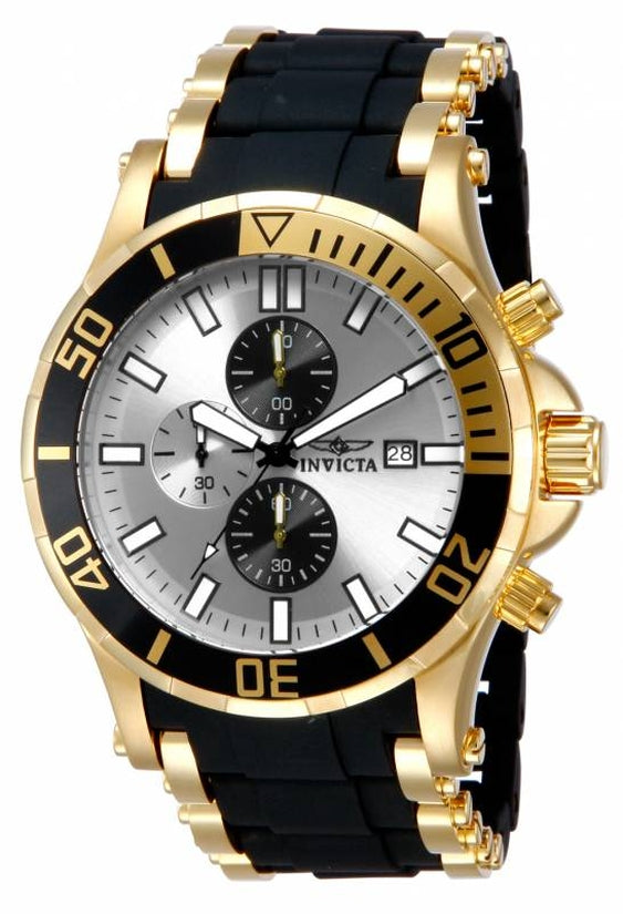 Sea Spider Men's Polyurethane/Stainless Steel Silver Dial