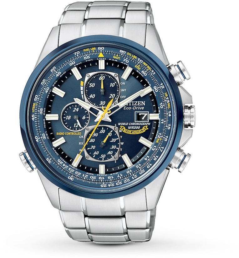 Blue Angels World Chronograph A-T Silver Tone