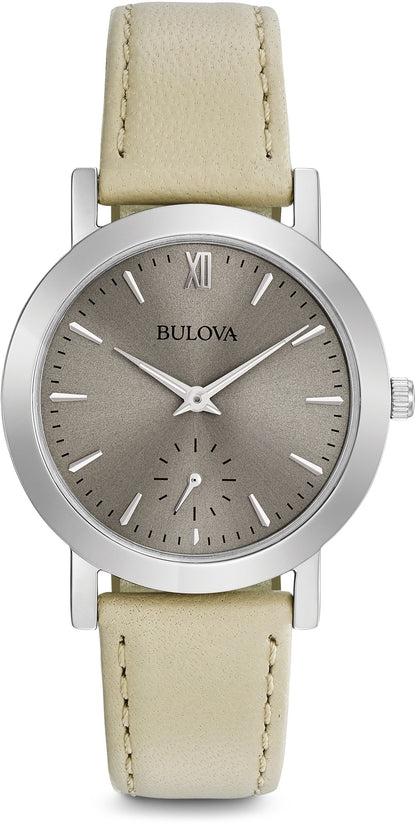 Classic Gray Dial Beige Leather