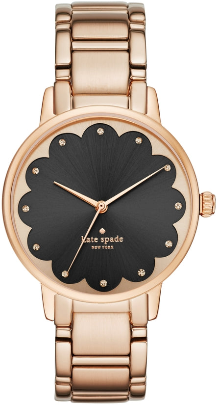 Scallop Gramercy Rose Gold Tone Black Dial