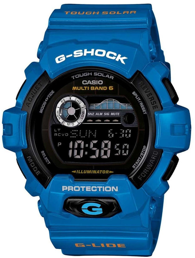 G-Shock GWX8900D-2 G-Lide Series Black Digital Dial Blue Resin Strap Mens Watch