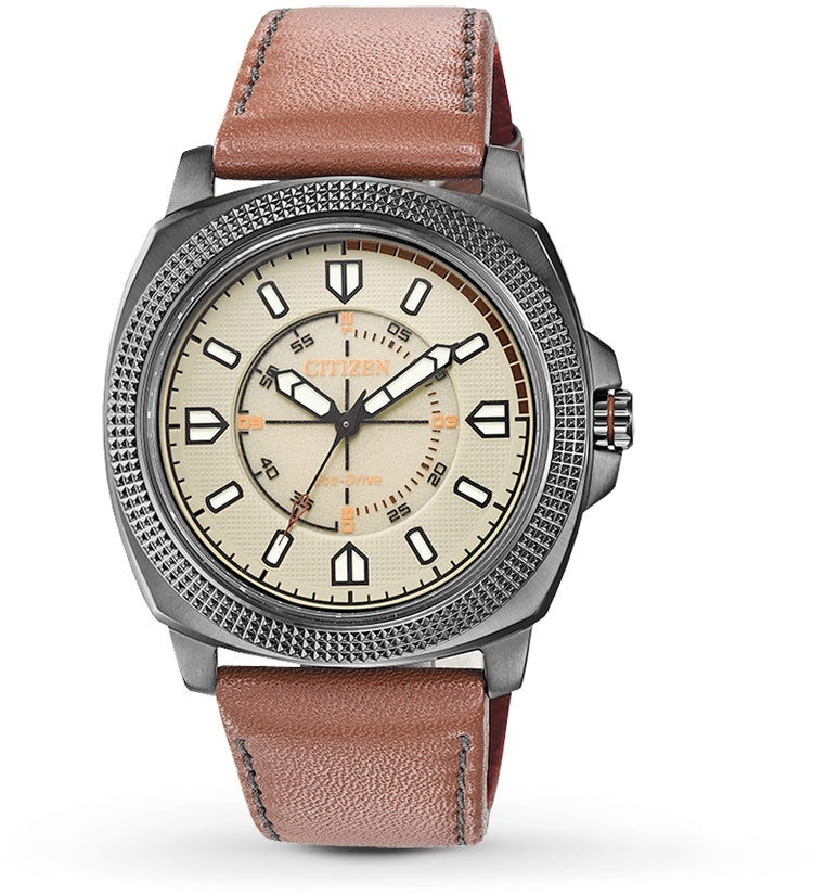 CTO Beige Dial Brown Leather