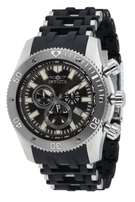 Sea Spider Men's Polyurethane/Stainless Steel Black Dial