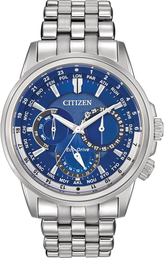 Calendrier Multifunction Blue Dial