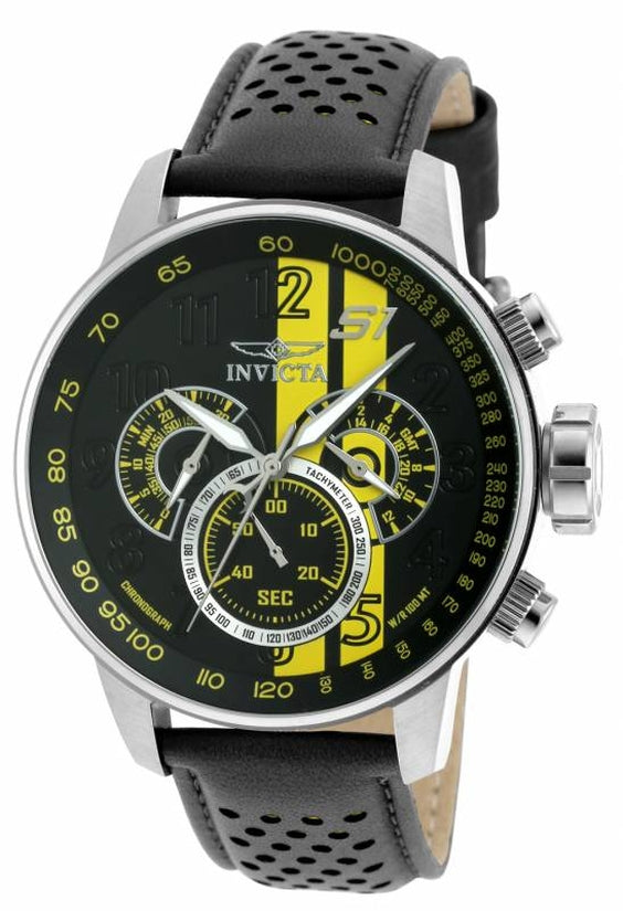 S1 Rally Men's Leather Black Dial