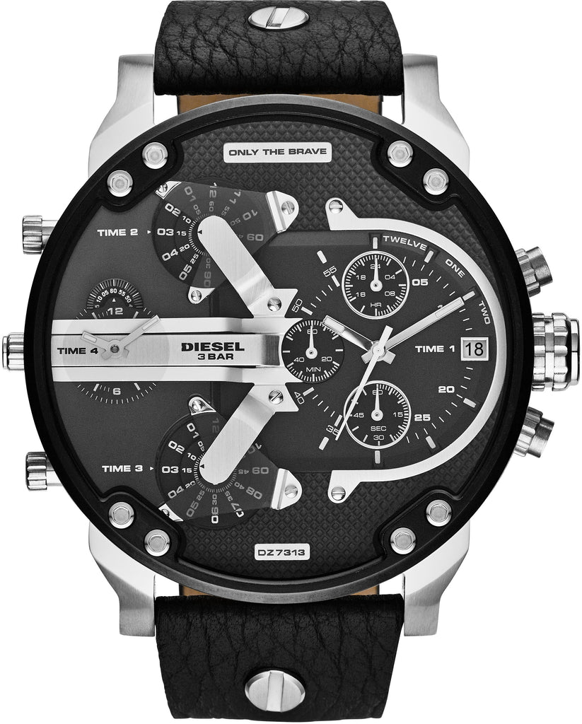 Mr Daddy 2.0 Chronograph Silver Tone Case Black IP