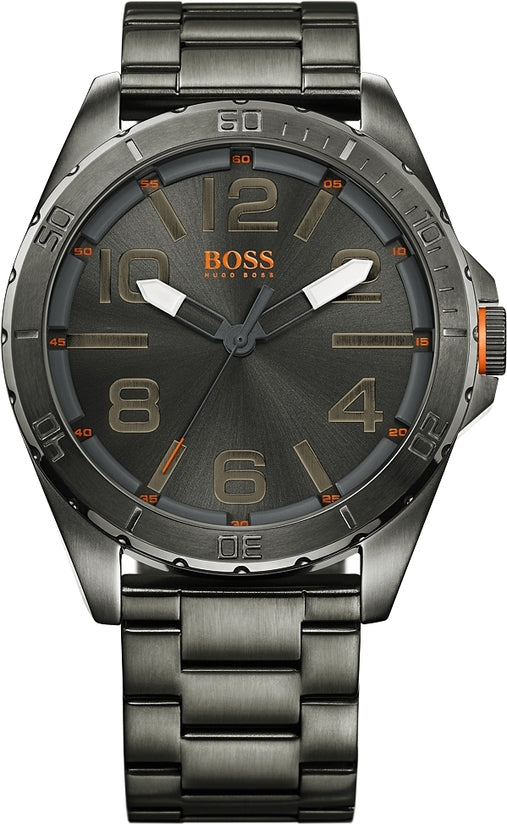 Berlin Men's Ionic Plated Grey Steel Gray Dial