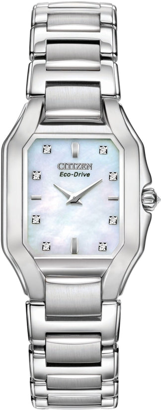 Fiore MOP Diamond Dial Womens Watch EX1190-58D
