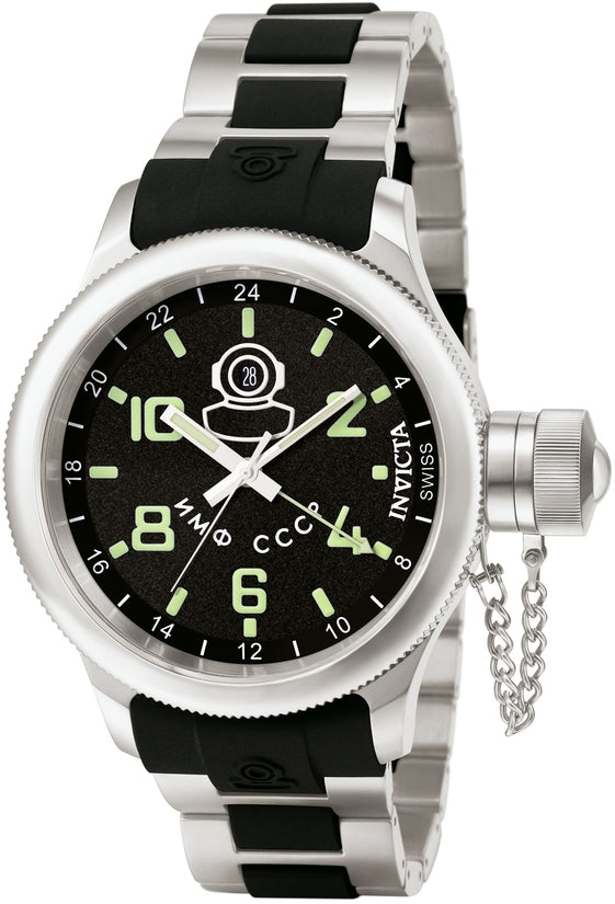 Russian Diver Men's Stainless Steel Black Dial