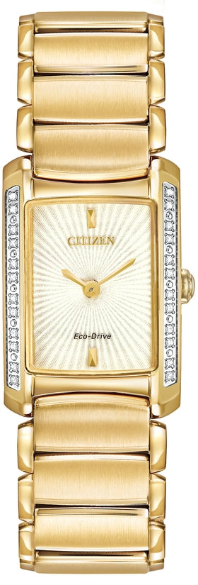 EG2962-51A Euphoria Gold Dial Stainless Steel Strap Women's Watch
