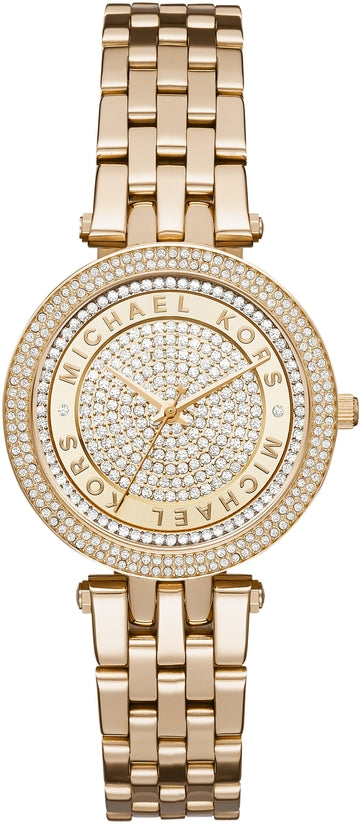 Mini Darci Crystal Pave Dial Gold Tone