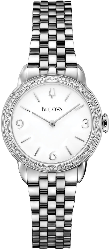 Diamond Accent White Dial Womens Watch 96R181