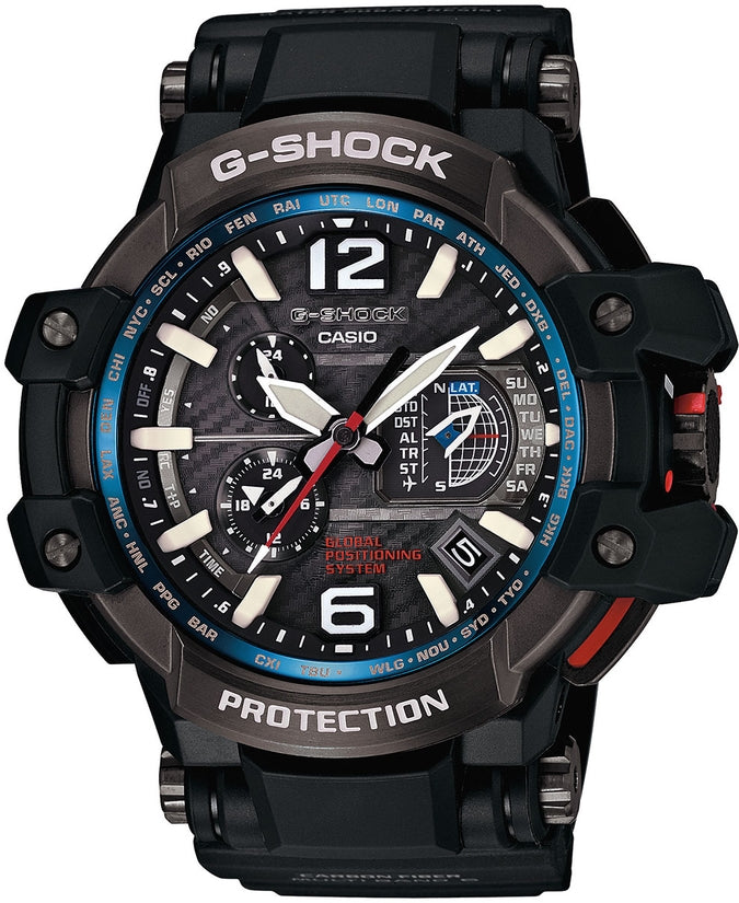 G-Shock GPW1000-1A GravityMaster Black Dial Resin Strap Mens Watch