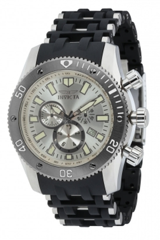 Sea Spider Men's Polyurethane Silver Dial