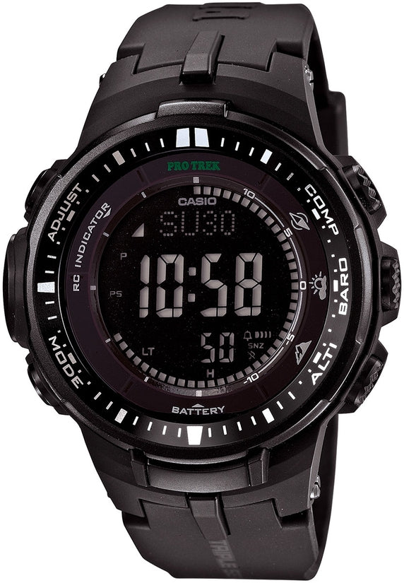 PRW3000-1A ProTrek Black Dial Resin Strap Mens Watch