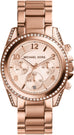 Blair Chronograph Rose Gold Tone