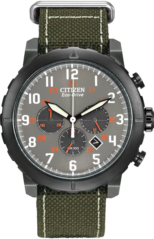 CA4098-14H Military Grey Dial Green Nylon Strap Men's Watch