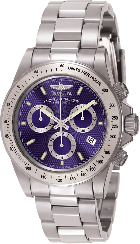 Signature Men's Stainless Steel Blue Dial
