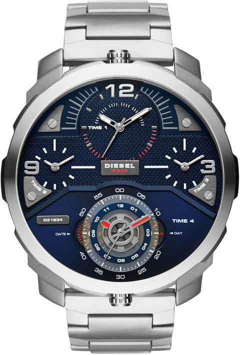 Machinus Blue Dial Silver Tone