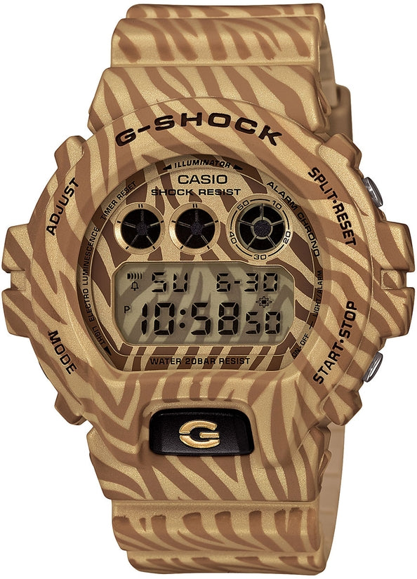 G-Shock DW6900ZB-9 Classic Digital Gold Zebra Resin Strap Mens Watch