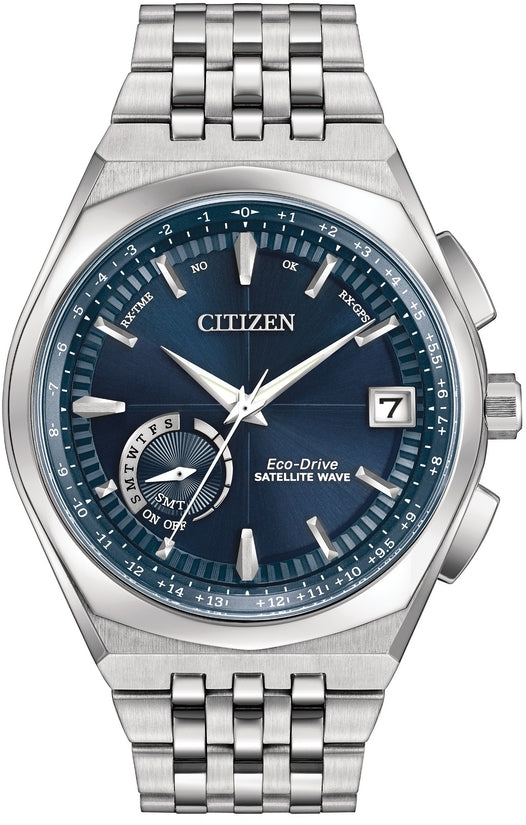 Satellite Wave - World Time GPS Blue Dial