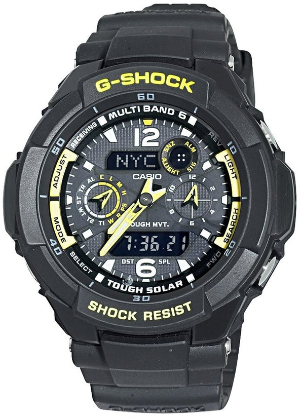 G-Shock G-Aviation Chronograph Digital-Analog Black Dial Resin Strap Men's Watch GW3500B-1A