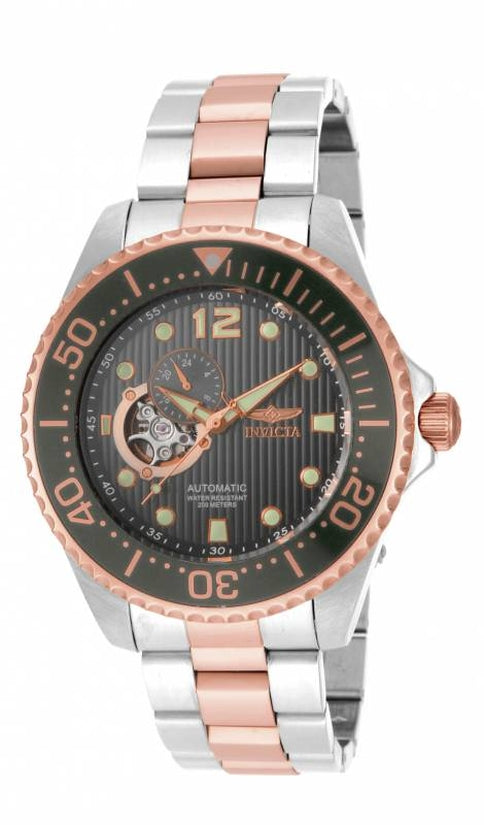 Pro Diver Men's Stainless Steel Charcoal Dial